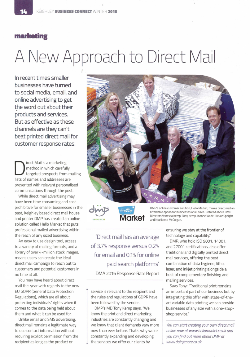 DMP News | Keighley Business Connect Feature